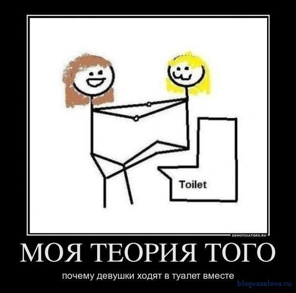 Почему девушки могут терпеть туалет